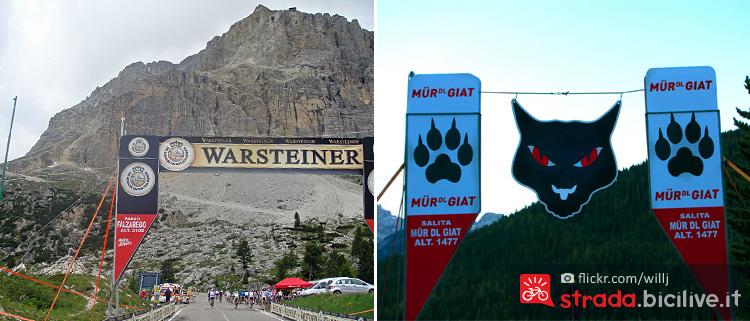 il passo Falzarego sopra Cortina e il muro del gatto in Badia