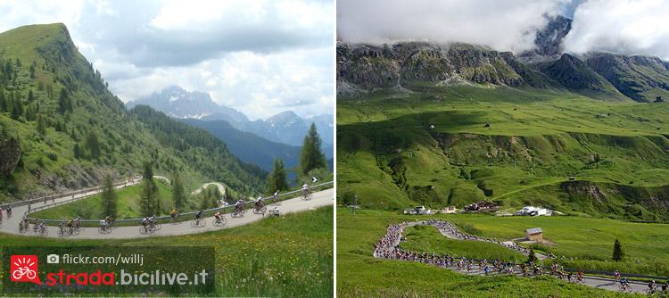 La salita al Passo Giau nelle Dolomiti della Provincia di Belluno.