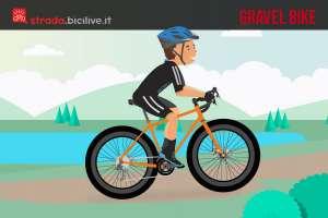 come è fatta una gravel bike