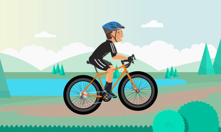 un itinerario per gravel bike