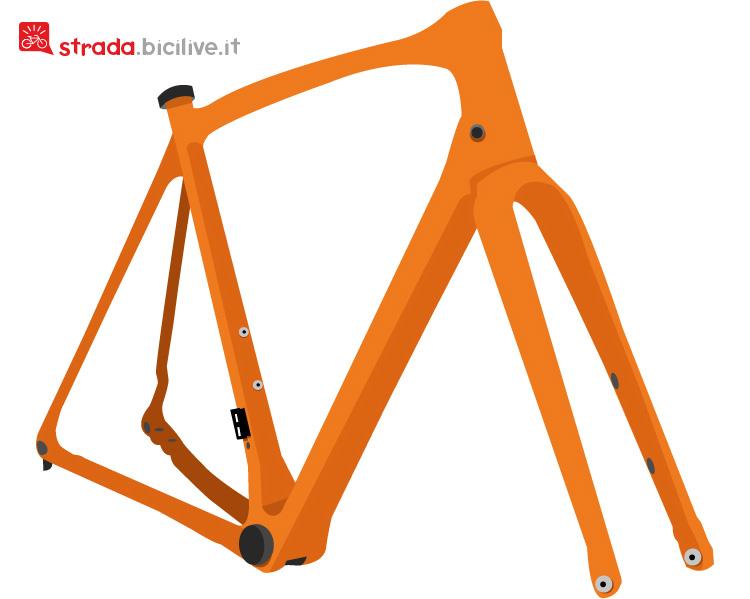 il telaio di una bici gravel
