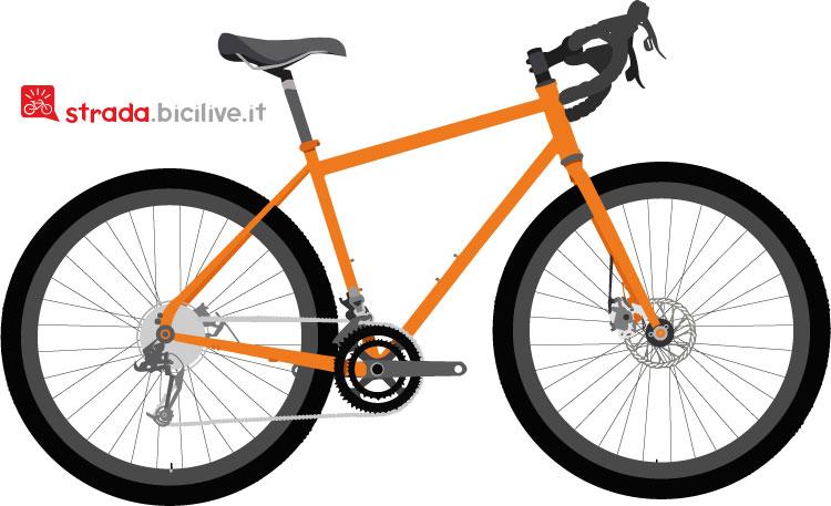 bicicletta gravel per lo sterrato