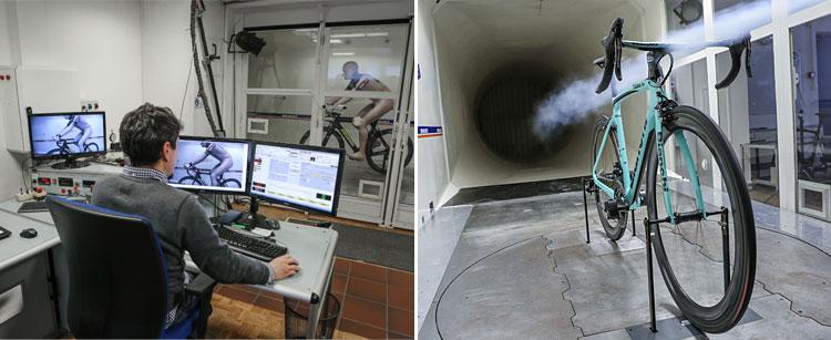 progettazione e galleria del vento per la Bianchi XR.4 CV Carbon