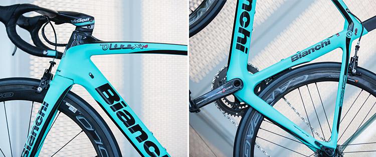 dettagli della bici da corsa Bianchi XR.4 CV Carbon