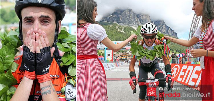 vincitori della granfondo di ciclismo Maratona dles Dolomites