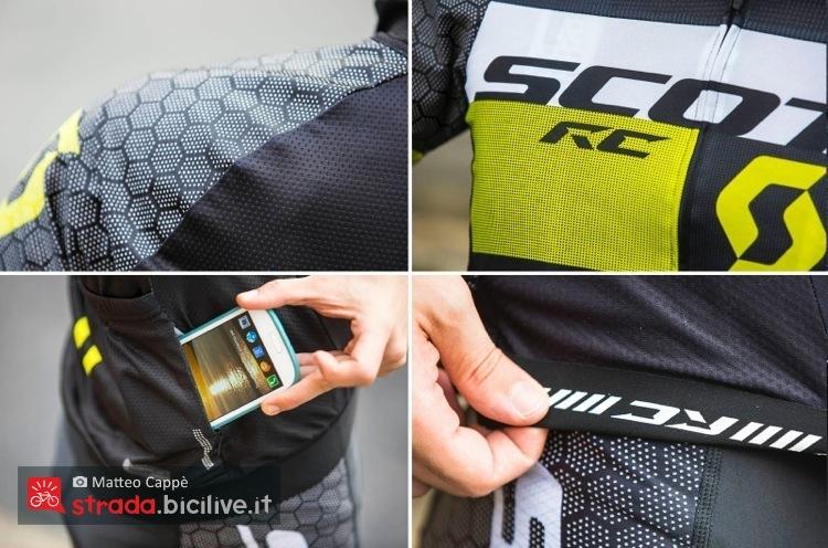 Dettagli della maglia abbigliamento bici da strada Scott RC Pro Tec
