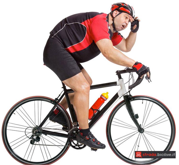 Perdere massa grassa con l'allenamento HIIT in bici