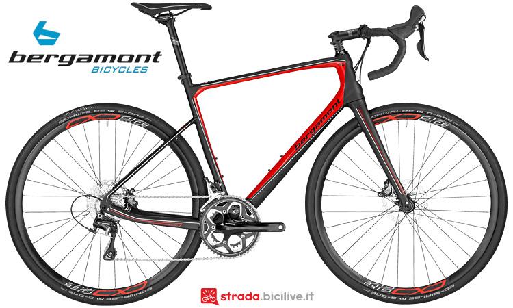 Bergamont Prime Grandurance 6.0 in fibra di carbonio ad alto modulo con  gruppo Shimano Ultegra a 11v.