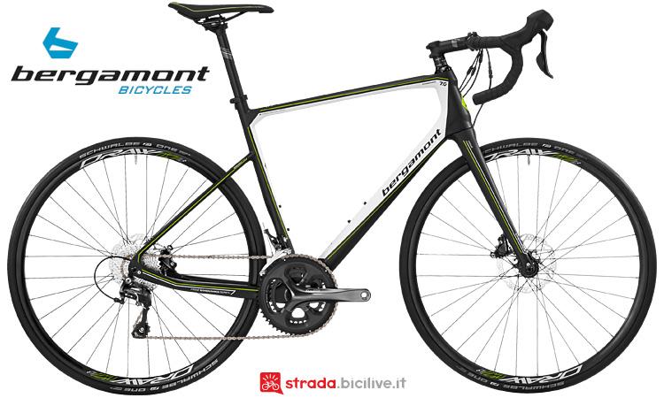 Bergamont Prime Grandurance 7.0 in carbonio con Shimano Tiagra a 10v.