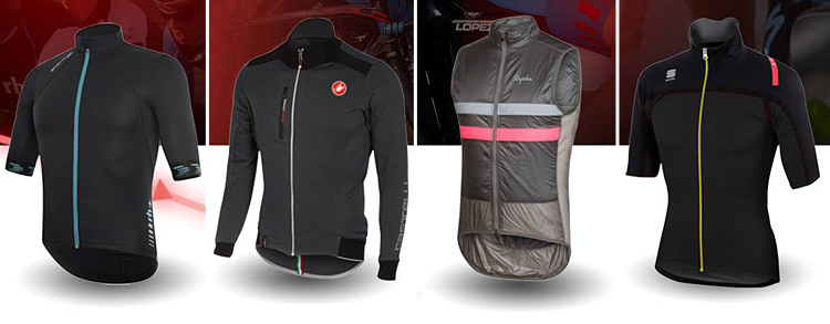 prodotti rh+, Castelli, Rapha e Sportful con tessuti Polartec