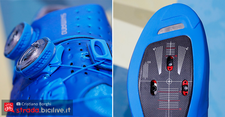 scarpa da ciclismo Shimano S-Phyre RC9 con sistema di allacciatura BOA