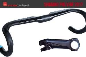 la piega e l'attacco manubrio Shimano Pro Vibe 2017 bdc