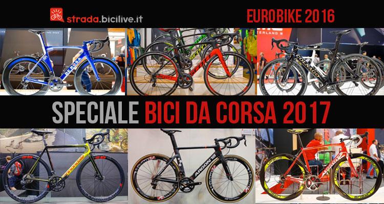 Foto con le bici da corsa presenti a Eurobike 2016