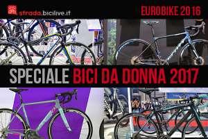 Foto di alcune bici da donna 2017 a Eurobike 2016