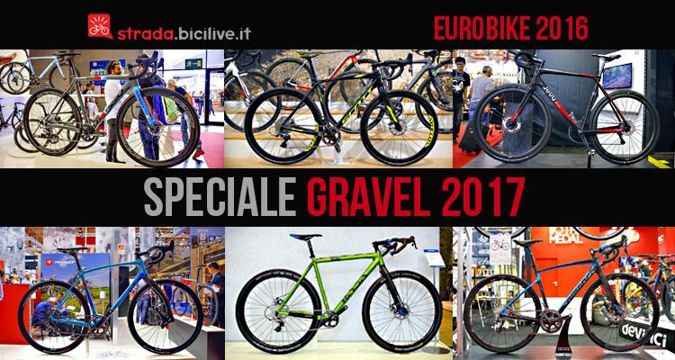 foto di una serie di bici gravel 2017 a eurobike