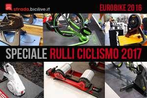 Foto con alcuni rulli per ciclismo presenti a Eurobike 2016