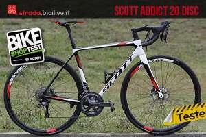 Scott Addict 20 Disc provata durante il Bike Shop Test 2016 di Bologna