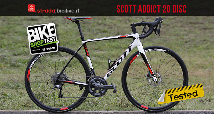 Scott Addict 20 Disc provata durante il Bike Shop Test 2016 di Bologna