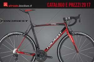 Catalogo e listino prezzi 2017 bici da strada Fondriest