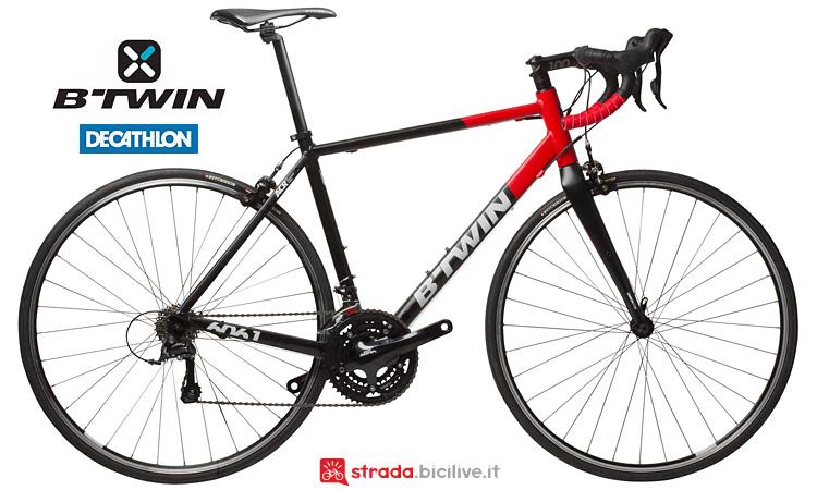 bici da corsa b'twin Triban 520