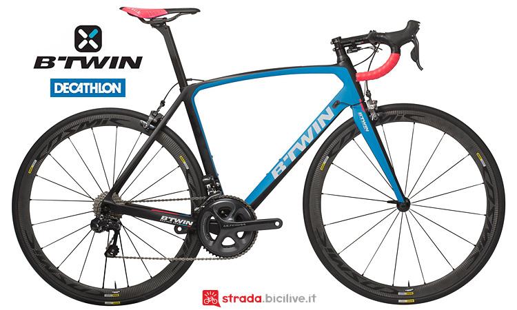 B'Twin Ultra 740 CF Team Edition bici da corsa top di gamma Decathlon