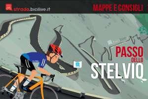 mappe e consigli su come affrontare il passo dello Stelvio in bici