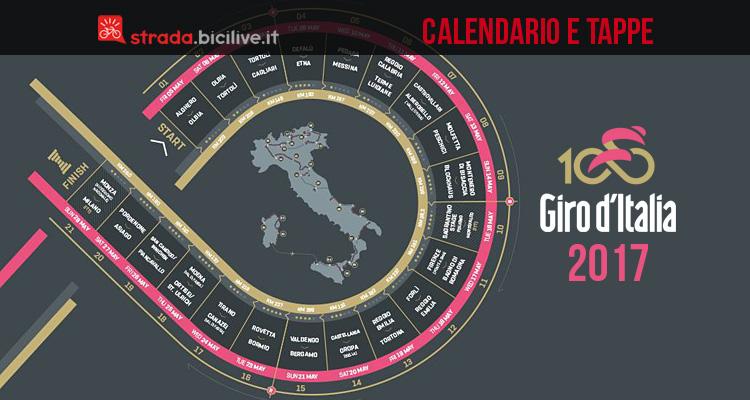 calendario e tappe del giro d'italia 2017