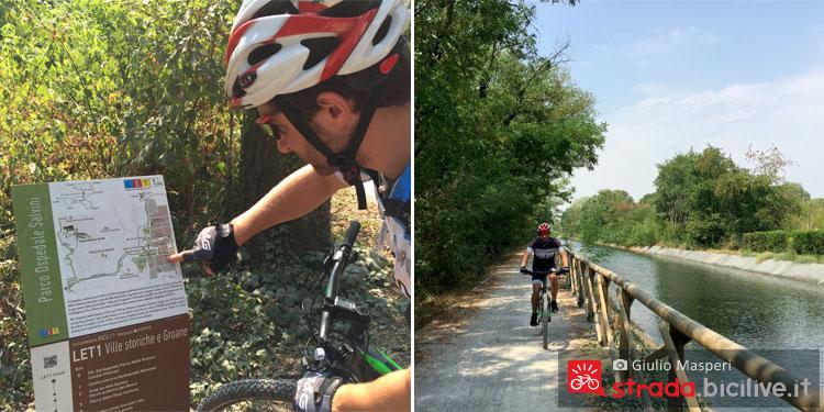 Segnaletica e canale Villoresi nella rete ciclabile Let 1 fuori Milano