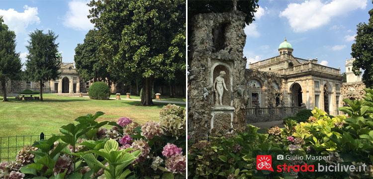 giardino della villa Littai lungo l'itinerario ciclabile LET 1