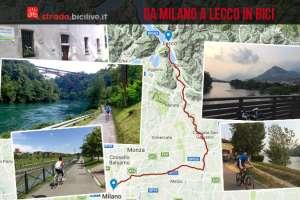 itinerario in bici da Milano a Lecco lungo la ciclabile della Martesana e il fiume Adda