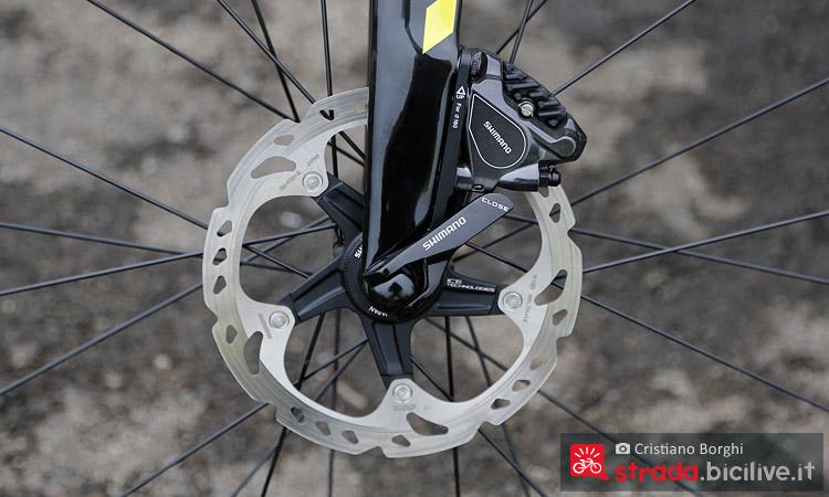 Foto del disco dei freni della bici da corsa Look 765 Disc