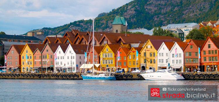 Foto panoramica di Bergen