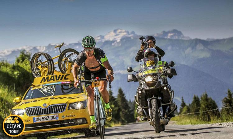 ammiraglia mavic fornisce assistenza durante l'Étape du Tour 2017