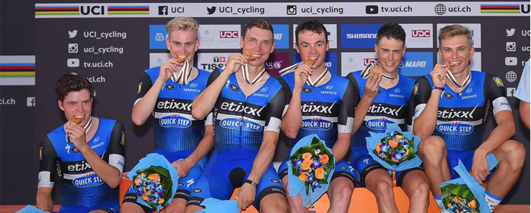 Etixx Quick Step vincitrice dell'UCI World TTT Championship