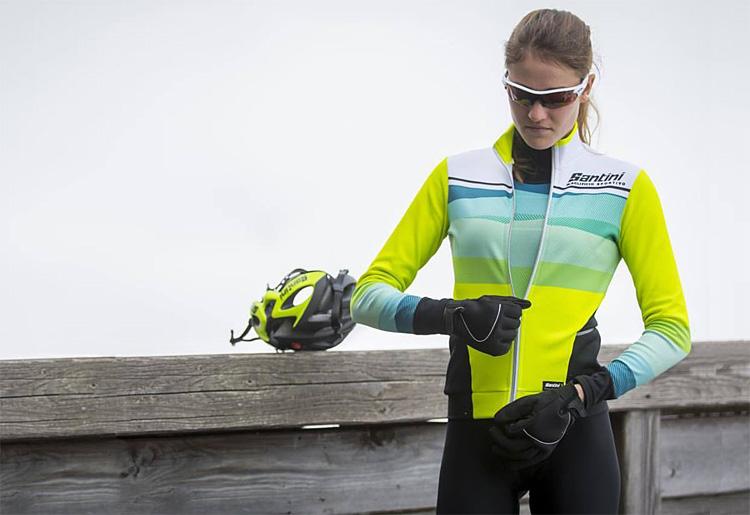 abbigliamento invernale ciclismo Santini