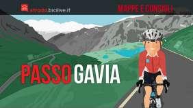 mappe itinerario e consigli per affrontare il passo Gavia in bici