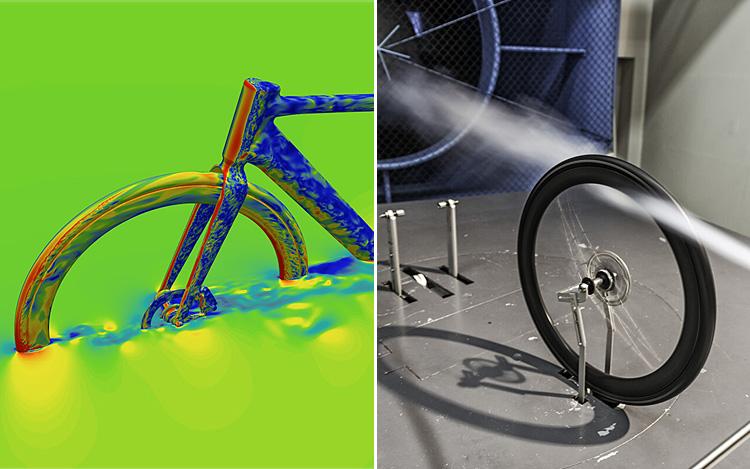 sistema CFD e test in galleria del vento per le ruote aero DT Swiss