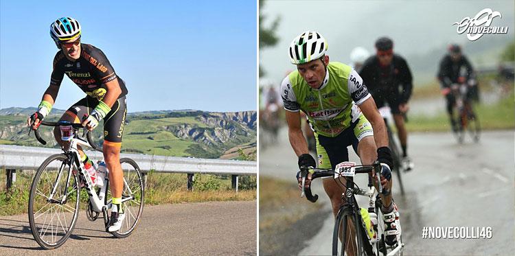 sole e pioggia nelle edizioni della granfondo di ciclismo Nove Colli