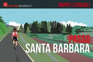 consigli e mappa per affrontare in bici la salita al passo santa barbara in trentino