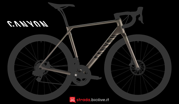 Canyon Endurace CF SLX Disc 9.0 con freni a disco