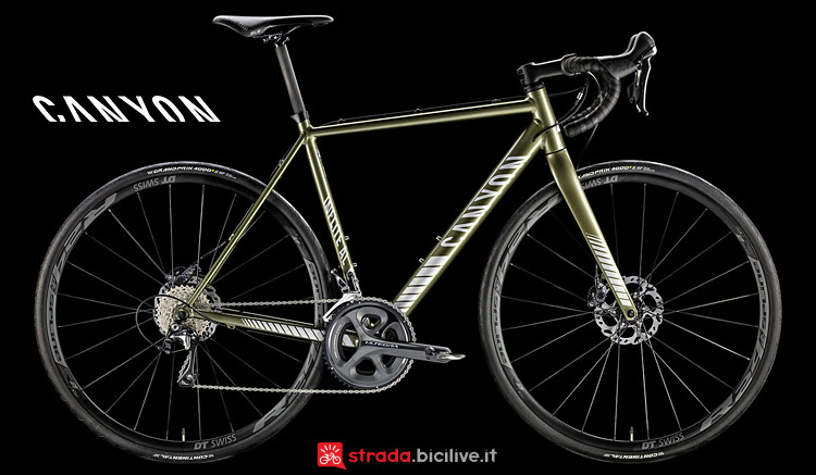 Canyon Inflite AL 9.0 S con ruote DT Swiss