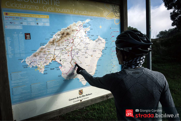 mappe con tutti i percorsi ciclabili dell'isola