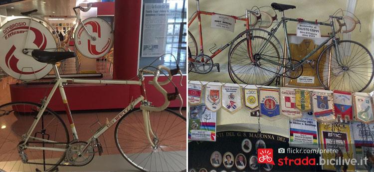 biciclette storiche di Coppi Merckx e Moser