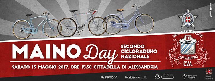 locandina del maino day, cicloraduno biciclette