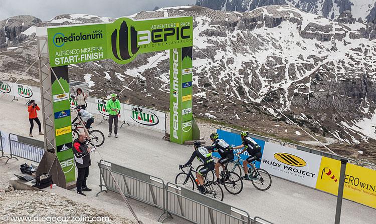 arrivo della 3epic cycling road lavaredo