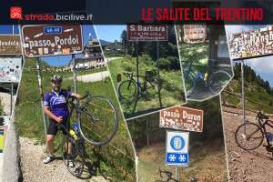 salite in bici dei passi di montagna in trentino