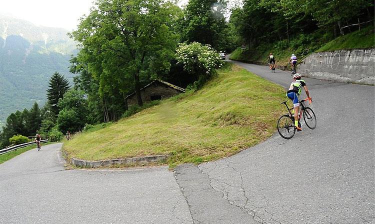 pendenza del mortirolo in bici