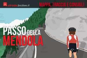 ciclista percorre il passo della mendola in bici