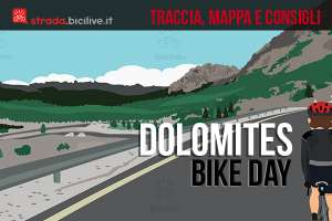 ciclista partecipa al dolomites bike day