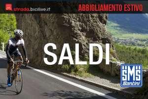 Saldi estate 2017 su abbigliamento per ciclisti Santini